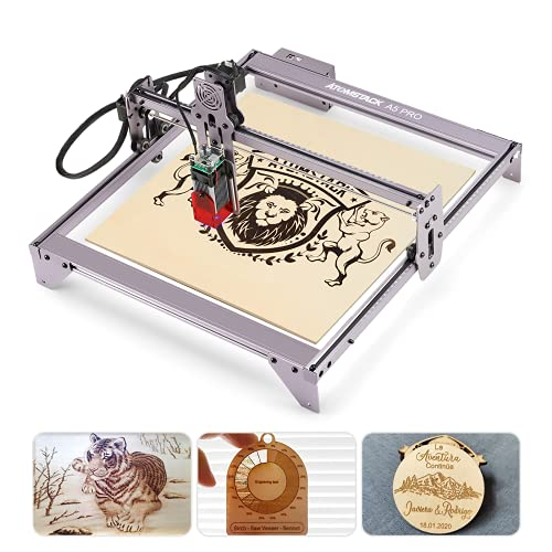 ATOMSTACK A5 Pro Laser Engraver, 40W Laser Engraver Machine with Eye Protection, 5W-5.5W Output Power, Laser Marking Carving for Wood Acrylic Leather MDF, GRBL Control, 400x410mm