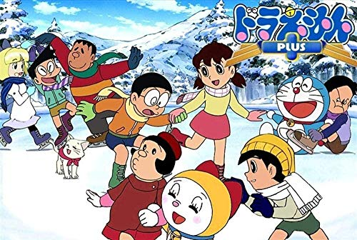 XIAOSHI Juguete Rompecabezas 1000 Piezas Adultos Madera Niño Puzzle Doraemon Little Ding Dong Juego Casual Arte Adecuado Amigo Familiar Interesantes Juguetes Regalo Decoración Mural
