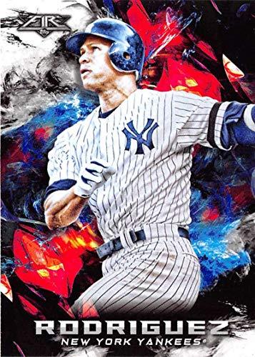 2018 Topps Fire Baseball #46 Alex Rodriguez New York Yankees