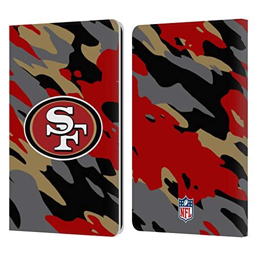 Head Hülle Designs Offiziell Zugelassen NFL Camou San Francisco 49Ers Logo Leder Brieftaschen Handyhülle Hülle Huelle kompatibel mit Kindle Paperwhite 1 / 2 / 3