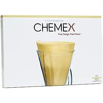 Chemex FP-2N | Filtros Naturales de Media Luna | Caja de 100 Filtros |