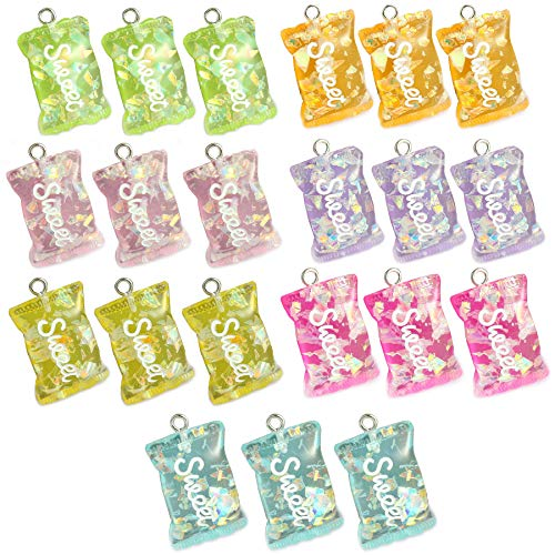 21 Pcs Colorful Sweet Candy Pend...