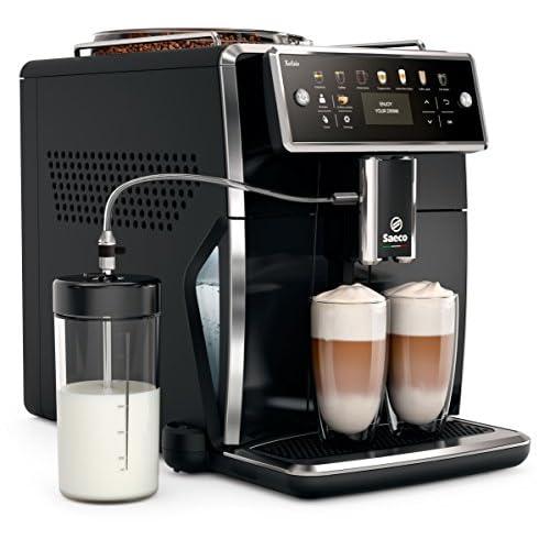 Philips sm7580/00Xelsis Macchina per caffè, LED Display CON TASTI DI SCELTA rapida, hygie-Steam, 1.7L, colore: nero