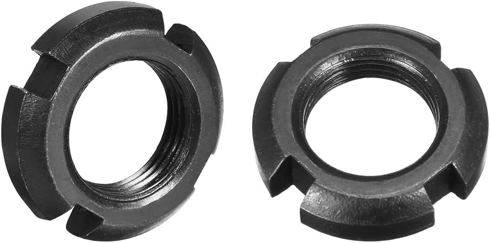 Latest item uxcell Ranking TOP14 M20x1.5mm Retaining Four-Slot Slotted 2 Pcs Round Nuts