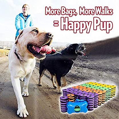 OUT! Dog Poop Bags | Strong, Leak Proof Dog Waste Bags | 9 x 12 Inches, 750 Rainbow Bags 6