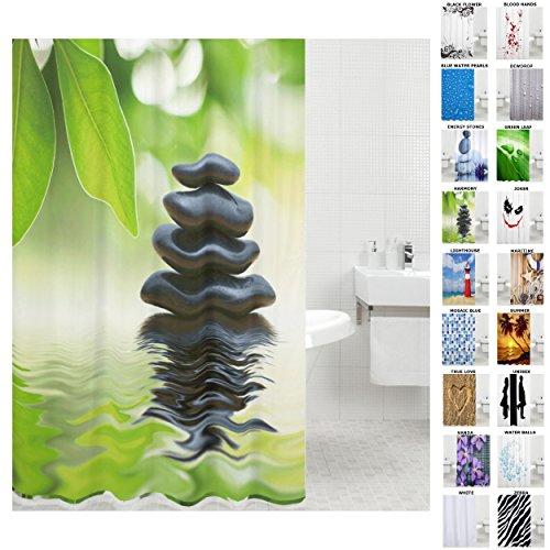 Sanilo Duschvorhang, viele schöne Duschvorhänge zur Auswahl, hochwertige Qualität, inkl. 12 Ringe, wasserdicht, Anti-Schimmel-Effekt (180 x 200 cm, Harmony)