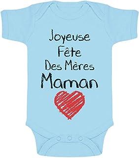 Green Turtle T-Shirts Joyeuse Fête des Mères Maman Cadeau Maman Body Bébé Manche Courte