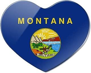 Montana State Flag Heart Acrylic Fridge Refrigerator Magnet