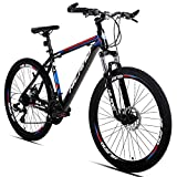 Hiland Aluminum Mountain Bike,Shimano 24 Speeds,26 inch Wheels, with Disc Brake,3 Sizes for Men Mens Bikes