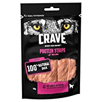 Treat your dog with Crave protein strips, a high protein, chewy dog treat crafted from quality animal protein and without grains, artificial colouring or flavours with a taste dogs instinctively love Protein strips are made with natural animal source...