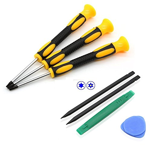 7 Pieces of Professional Prying Tool Electronic Magnetic Repair Screwdriver Kit Set for Xbox One, Xbox 360, PlayStation 3 and PlayStation 4