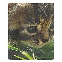 マウスパッド おしゃれ 高耐久性 滑り止め 防水 PC ラップトップ 水洗い レーザー 光学式 18*22cm ネコ