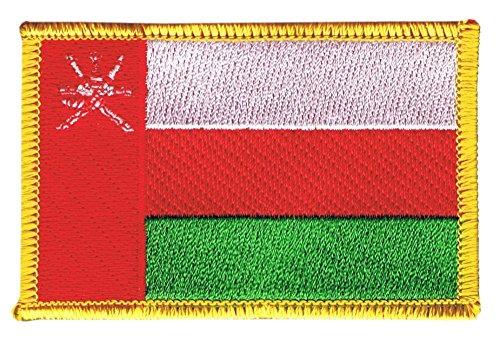 Flaggenfritze Flaggen Aufnäher Oman Fahne Patch + gratis Aufkleber