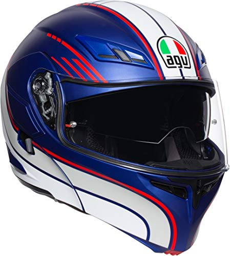 AGV CASCO COMPACT ST MULTI PLK BOSTON MATT BLUE/WHITE/RED S