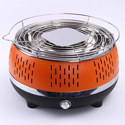 Best Review Of Zjnhl Family Gathering/Small Barbecue Easy Barbecues Set Charcoal Grill Large Round B...