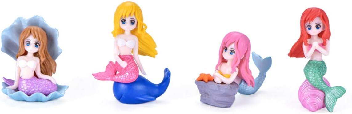 4 years warranty LIXIATIAN Inventory cleanup selling sale Pcs Miniature Mermaid Garden Figurines Miniat Fairy