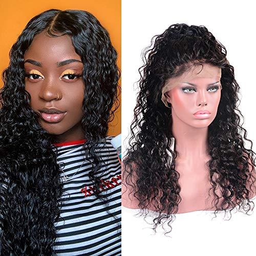 Brésil Virgin Hair Lace Front Wig Water Wave Hair Wigs 150% Density with Baby Hair Adjustable Straps Natural Color (18 inch) Brésil plumé Water Wave en dentelle frontale Perruques
