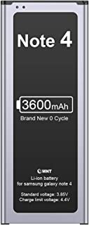 EMNT Battery Compatible Samsung Galaxy Note 4 3600mAh Battery Note 4 Lithium-ion Corresponds to EB-BN910BBE SM-N910 SM-N910F SM-N9100 SM-N910H Remplacement High Capacity 800 Charge Cycles Without NFC
