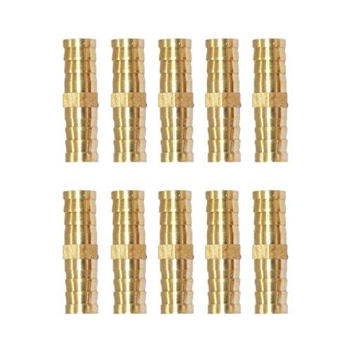 Sharplace Connecteur De Coupleur Raccord Buse De Tuyau en Laiton Filetage Mâle Exterieur - 10 Pcs 10mm-10mm