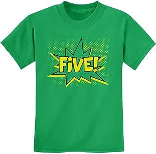TeeStars - Five! Superhero Fifth Birthday - 5 Years Old Gift Idea Kids T-Shirt