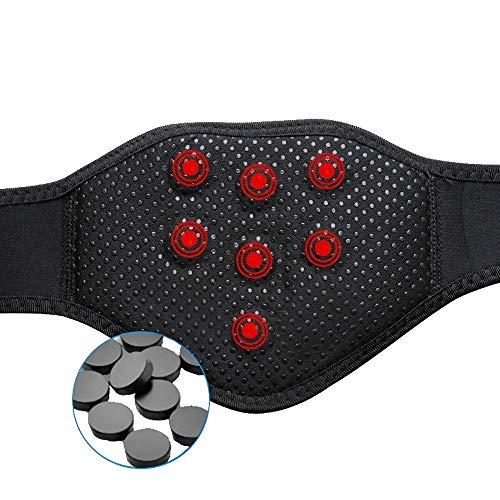 2x Nacken/Hals Bandage ProSlim/T-active, Nackenwärmer, Halswärmer mit Turmalin und Magnet, infrarot Wärmetherapie, nacken enspannung (Schwarz)