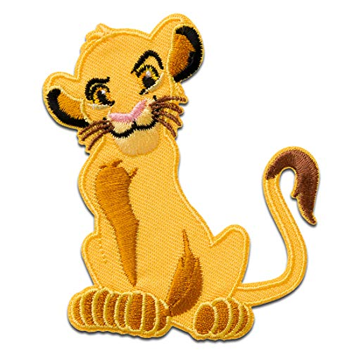 Disney © - Lion King Simba Animal - Parches termoadhesivos bordados aplique para ropa