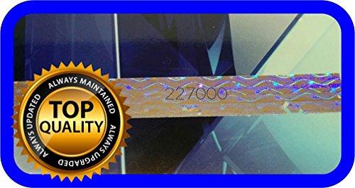 120 St. Hologramm Etiketten mit Seriennummern, Garantie Siegel Aufkleber 75x10mm