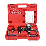 Vacuum Purge and Refill Tool, Cooling System Vacuum Purge and Coolant Refill Kit Vacuum Purge Quickly Refill Tool with Universal Adaptor and Solid Plastic Carrying Box Fit for Car SUV Van Light Truck