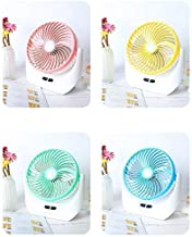 Wazdorf Portable Multi Function Powerful Rechargeable Table Fan with Led Light, Table Fan for Home, Office, Study, Desk, Kitchen, Table Fan High Speed (Multi)