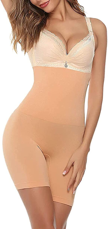 Lovicci Shapewear for Women Tummy Control High-Waisted Mid-Thigh Shorts Underwear Butt Lifter Bodysuit Panties