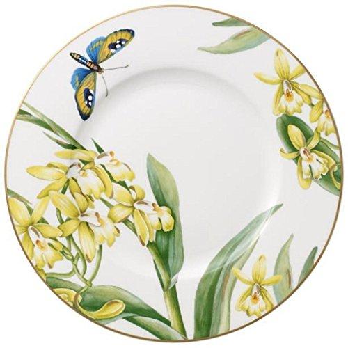 Villeroy & Boch 10-4381-2650 Assiette à Dessert Porcelaine Vert 22,5 x 22,6 x 7,6 cm