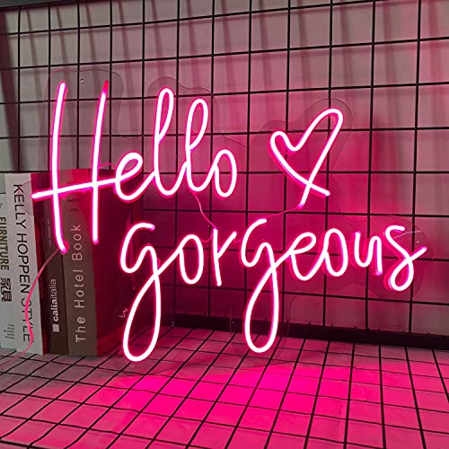 FARNEW Hello Gorgeous Neon Sign ...