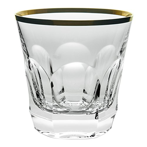 Cristal de Sèvres Chenonceaux Or Set de Verres à Whisky, Verre, Or, 10 x 10 x 10 cm, Lot de 2