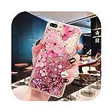 Coque pour iphone 7,Coque Liquide Flamingo pour iPhone XS Max XR X 6 6S 7 8 Plus Clair Doux Slilcone...