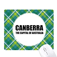キャンベラのオーストラリアの首都 緑の格子のピクセルゴムのマウスパッド