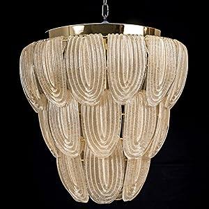 Agape techo de cristal de Murano dorado