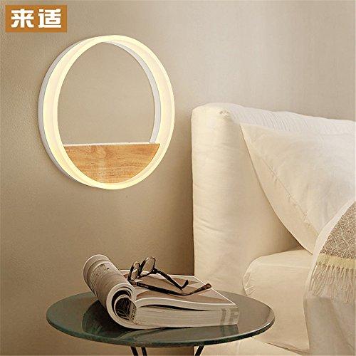 YU-K Moderne Stijl Wandlamp Log Decoratie muur lamp Japanse Nachtkastje muur lamp Instelling wandlamp (20cm) Perfect voor Woonkamer Hallway Slaapkamer Trappen Wandverlichting