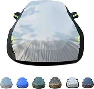 KTYXDE Car Cover Rainproof, Windproof, Dustproof, UV Resistant, Non-Flammable, Oxford Cloth Cover, Suitable for Use Inside and Outside Peugeot 3008 Car Cover (Color : F)