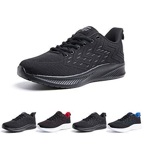 Zapatillas Running Hombre Bambas Zapatos para Correr y Asfalto Aire Libre y Deportes Calzado Casual Tenis Outdoor Gimnasio Sneakers Negro Gris Azul Número 38-48 EU Gris 48
