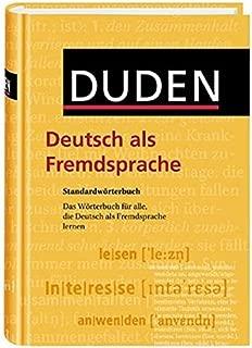 Duden. Deutsch als Fremdsprache. Standardwörterbuch. 18 500 Stichwörter. (Lernmaterialien) (German Edition)
