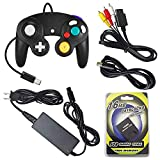 AreMe Gamecube Accessories Bundle - AC Power Supply Adapter, AV Cable, Wired Controller, Extension Cable and Memory Card for Gamecube NGC System