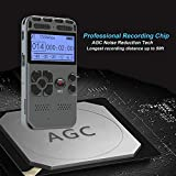 Rabusion Electronics Digital Voice Recorder Audio Recording Dictaphone MP3 LED Display Voice Activated