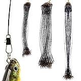 90piezas Cables Líderes de Pesca 20cm 25cm 30cm Alambre de Acero Inoxidable de Pesca Línea Sedal para Pescar 3 Tamaños Diferentes