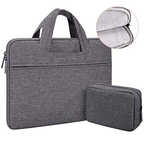 DLMPT Laptop Schoudertas Compatibel met 13.3-15.6 inch Notebook Sleeve Draagtas Aktetas Draagbare Handtas Hoes Laptop Computer Case