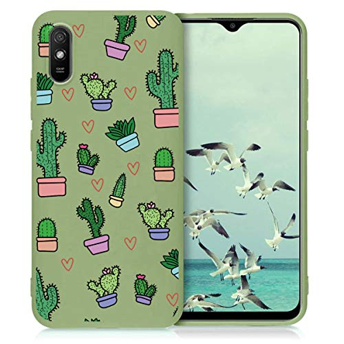 Yoedge Funda para Xiaomi Redmi Note 10 Pro (5G) -6,6 Pulgada Carcasa Protectora Suave TPU Verde Mate Silicona Antichoque Anti-Rasguño Ultrafino Cover con Patrón de Moda para Redmi Note10pro, Cactus