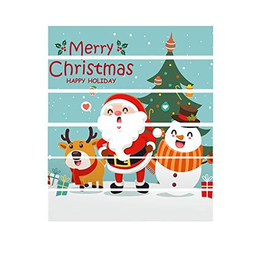 SHE.White 3D Weihnachtsmann Treppe Aufkleber Weihnachtsdeko, Kreativ Selbstklebend Wasserdichte DIY Treppenaufkleber Wandaufkleber Weihnachten Home Dekoration