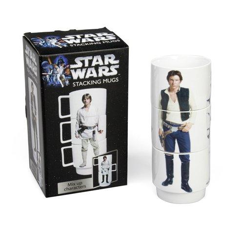 3 Tasses empilables des personnages de Star Wars Han Solo, Luke et Stormtrooper Mug en Céramique