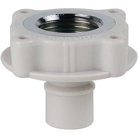 カクダイ 洗濯機用 取替簡単ニップル 呼13カップリング付き横水栓用 給水ホースをワンタッチ接続 樹脂製 7724