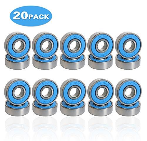 20 Pack Rillenkugellager 608-2rs ABEC 7 Kugellager 8mm x 22mm x 7mm Rollenlager Miniatur Radialkugellager