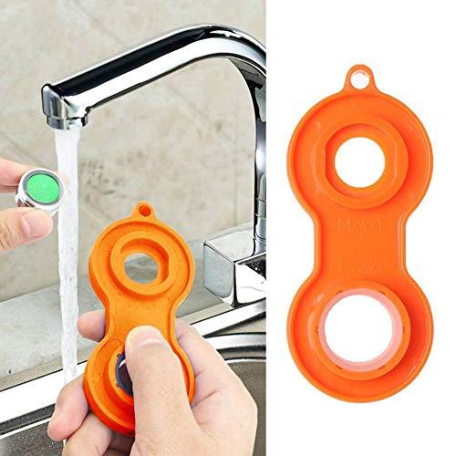 1 llave de baño, llave de burbuja para lavabo, boquilla de salida de agua, llave de plástico ABS, instalación y extracción de llaves de extremo abierto